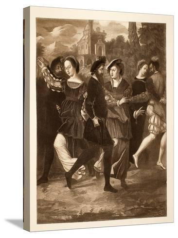 The Dancing Picture, C.1532, Pub. 1902--Stretched Canvas Print