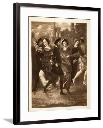 The Dancing Picture, C.1532, Pub. 1902--Framed Art Print
