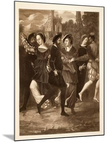 The Dancing Picture, C.1532, Pub. 1902--Mounted Giclee Print