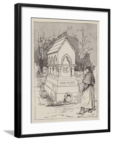 The Memorial to the Late Henry Richard--Framed Art Print