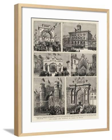 The Prince and Princess of Wales at Truro--Framed Art Print