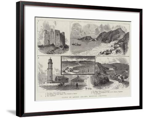 Views in Lundy Island, Bristol Channel--Framed Art Print