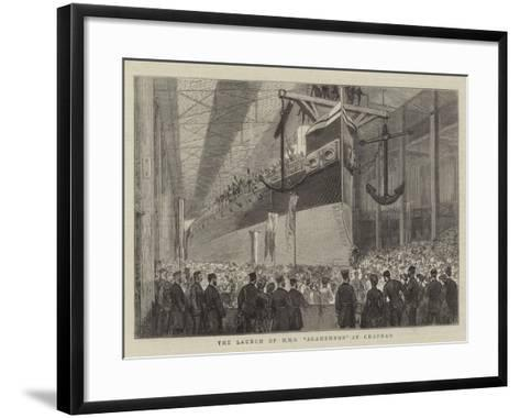 The Launch of HMS Agamemnon at Chatham--Framed Art Print