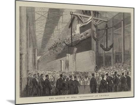 The Launch of HMS Agamemnon at Chatham--Mounted Giclee Print