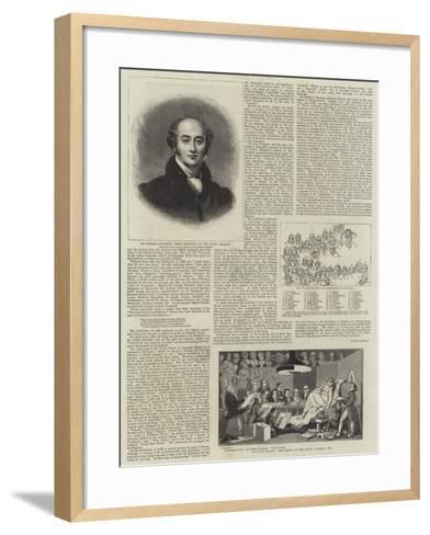 The Early History of the Royal Academy--Framed Art Print