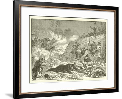 Death of Ward at the Hands of the Rebels--Framed Art Print