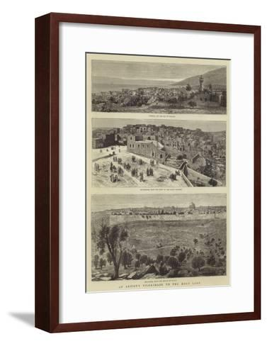 An Artist's Pilgrimage to the Holy Land--Framed Art Print