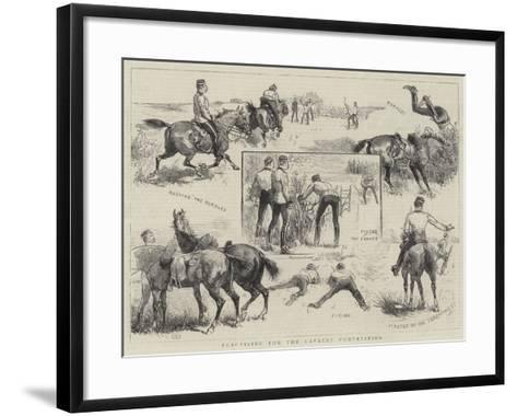 Practising for the Cavalry Competition--Framed Art Print