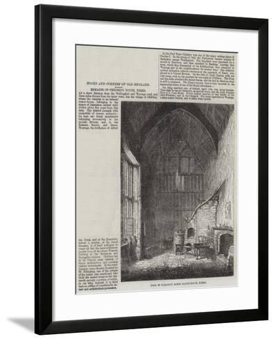 Hall of Childrey Down Manor-House, Berks--Framed Art Print