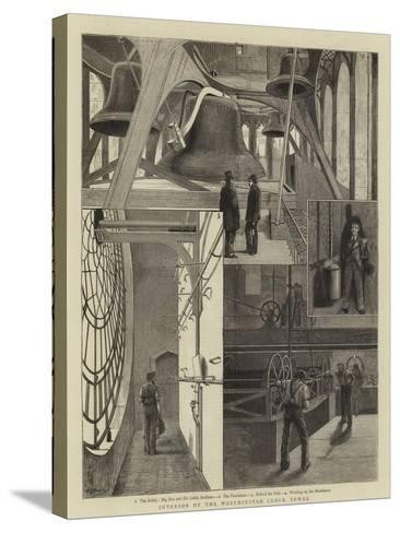 Interior of the Westminster Clock Tower--Stretched Canvas Print