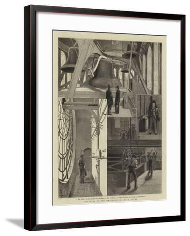 Interior of the Westminster Clock Tower--Framed Art Print