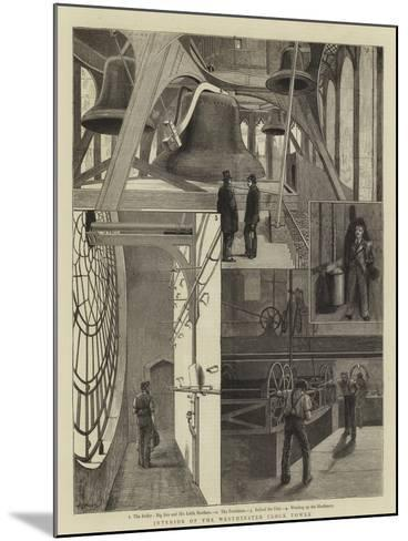 Interior of the Westminster Clock Tower--Mounted Giclee Print