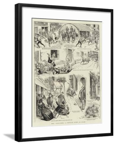 The Gallumbo, a Popular Sport in Spain--Framed Art Print