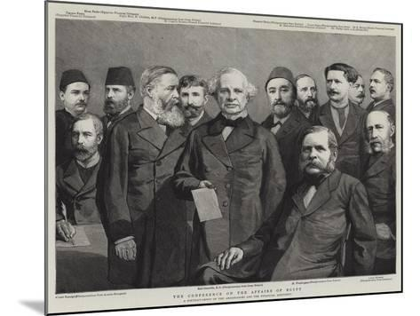 The Conference on the Affairs of Egypt--Mounted Giclee Print