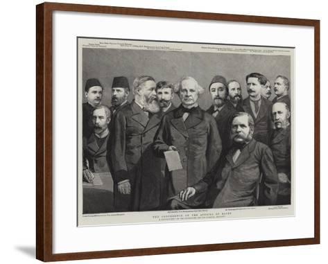 The Conference on the Affairs of Egypt--Framed Art Print