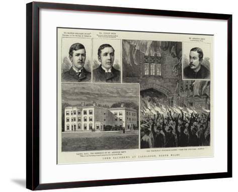 Lord Salisbury at Carnarvon, North Wales--Framed Art Print