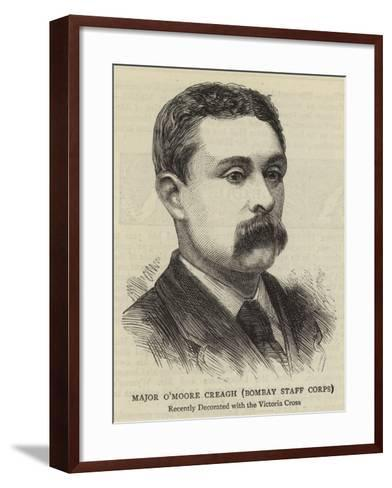 Major O'Moore Creagh, Bombay Staff Corps--Framed Art Print