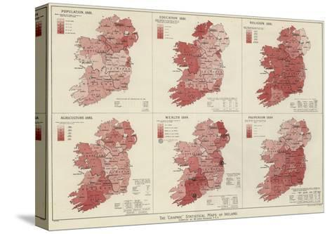 The Graphic Statistical Maps of Ireland--Stretched Canvas Print