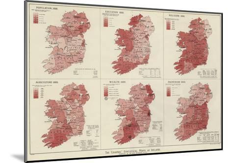 The Graphic Statistical Maps of Ireland--Mounted Giclee Print