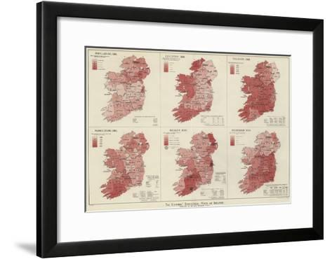The Graphic Statistical Maps of Ireland--Framed Art Print