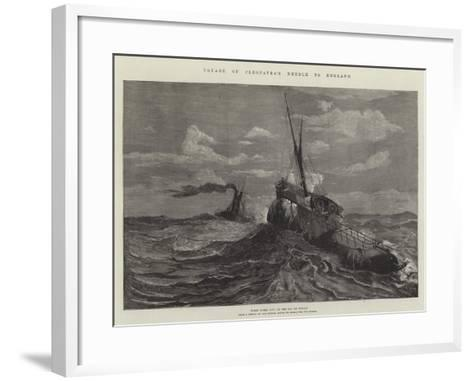 Voyage of Cleopatra's Needle to England--Framed Art Print