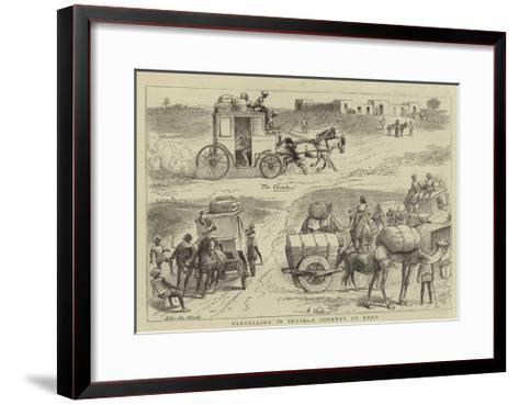 Travelling in India, a Journey by Road--Framed Art Print