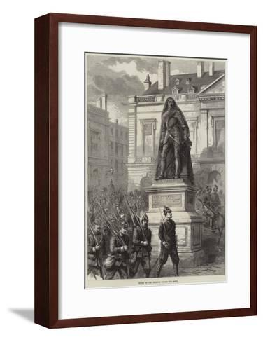 Entry of the Prussian Troops into Metz--Framed Art Print