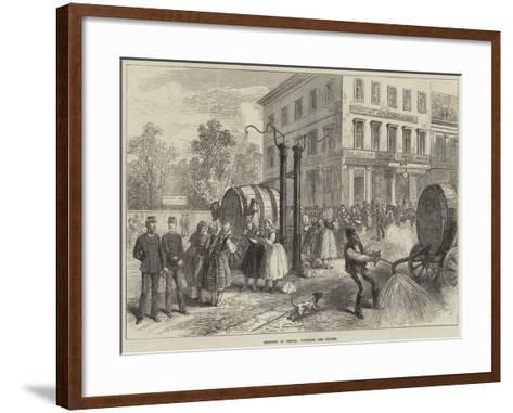 Sketches in Vienna, Watering the Streets--Framed Art Print