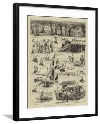 The Artillery Volunteers at Shoeburyness--Framed Art Print