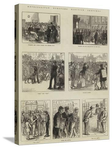Metropolitan Boroughs Election Sketches--Stretched Canvas Print