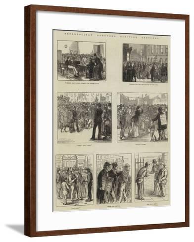 Metropolitan Boroughs Election Sketches--Framed Art Print