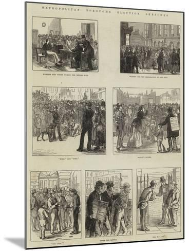 Metropolitan Boroughs Election Sketches--Mounted Giclee Print