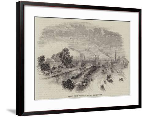 Derby, from the Road to the Racecourse--Framed Art Print