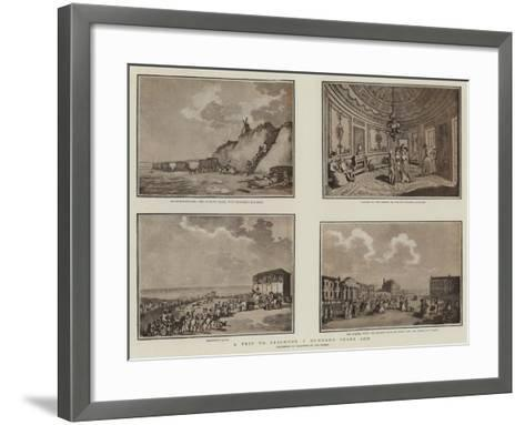 A Trip to Brighton a Hundred Years Ago--Framed Art Print