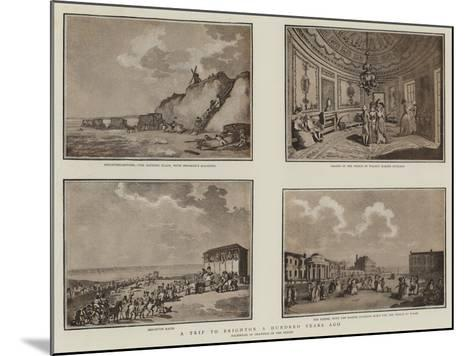 A Trip to Brighton a Hundred Years Ago--Mounted Giclee Print