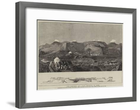 The Fortress and Field Defences of Kars--Framed Art Print