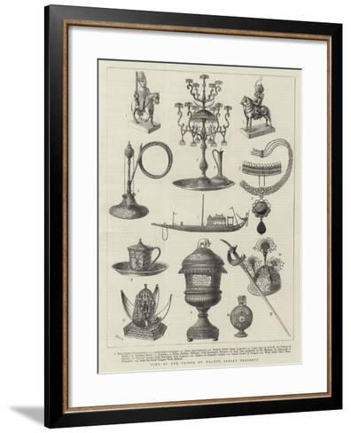 Some of Prince of Wales's Indian Presents--Framed Art Print