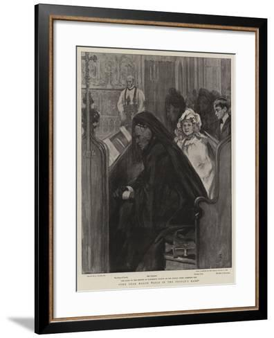 The Dead March Wails in the People's Ears--Framed Art Print