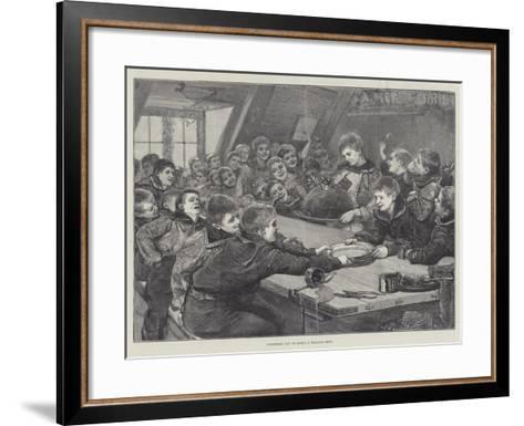 Christmas Day on Board a Training-Ship--Framed Art Print