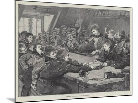 Christmas Day on Board a Training-Ship--Mounted Giclee Print