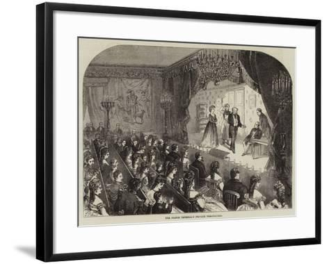 The Prince Imperial's Private Theatricals--Framed Art Print