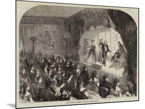 The Prince Imperial's Private Theatricals--Mounted Giclee Print