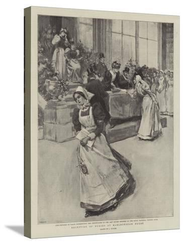 Reception of Nurses at Marlborough House--Stretched Canvas Print
