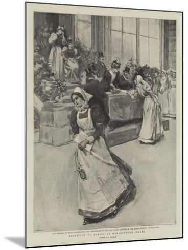 Reception of Nurses at Marlborough House--Mounted Giclee Print