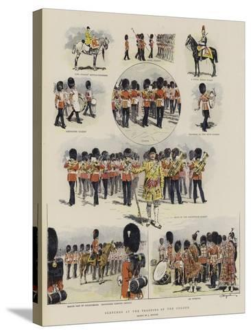 Sketches at the Trooping of the Colour--Stretched Canvas Print