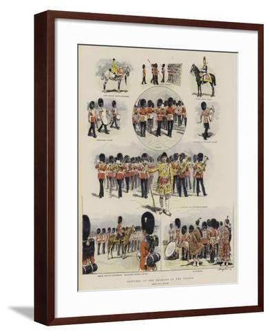 Sketches at the Trooping of the Colour--Framed Art Print