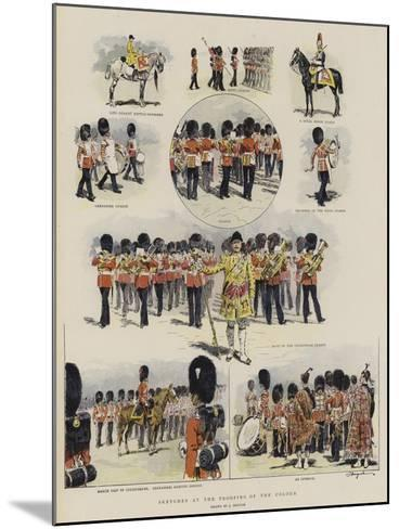 Sketches at the Trooping of the Colour--Mounted Giclee Print