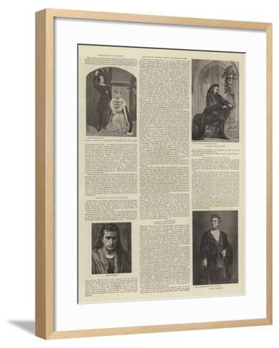 Leading Exponents of the Part of Hamlet--Framed Art Print