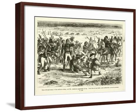 Here I Found Many of the Soldiers Sitting--Framed Art Print