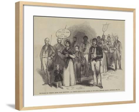 Procession of Persons Saved from Drowning--Framed Art Print